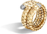 John Hardy Coil Ring with Diamonds