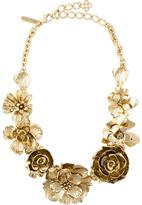 Oscar de la Renta flower statement necklace