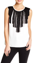 Nine West Sleeveless Fringe Blouse