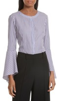 Milly Women's Stripe Shirting Blouse