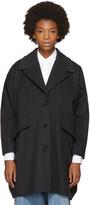 MM6 MAISON MARGIELA Grey Felted Wool Coat