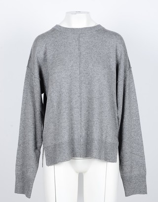 NOW Gray Cashmere and Wool Women's Sweater