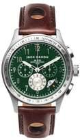 Jack Mason Racing Chronograph Leather Strap Watch, 42mm case