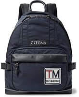Ermenegildo Zegna Leather-Trimmed Shell Backpack