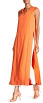 Trina Turk Juaneta Stitched Sleeveless High Slit Maxi Dress