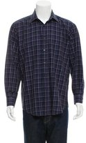 Etro Windowpane Button-Up Shirt