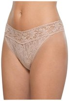 Hanky Panky Signature Lace Original Rise Thong - Vivid Coral - One Size