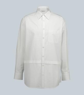 Valentino Oversized cotton shirt with panels