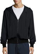 Vince Regular-Fit Merino Wool-Blend Zip-Front Hoodie