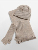 Calvin Klein Knit Hat, Tech Gloves + Scarf Set