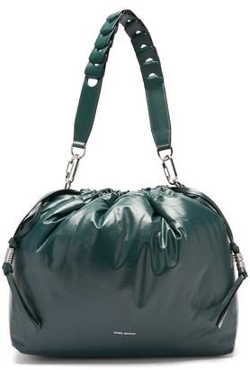 Isabel Marant Baggara Drawcord Leather Shoulder Bag - Dark Green