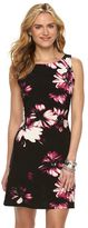 Chaps Petite Boatneck Floral Sheath Dress