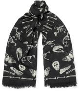 Alexander Mcqueen - Printed Wool And Silk-blend Scarf