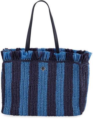 Kate Spade Fringed Raffia Large Tote Bag