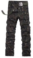 Colorfulworldstore Cotton Mens Casual Outdoor Military Army Woodland Camouflage Cargo Pants