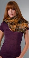 Karen Zambos Vintage Couture Plaid Wool Scarf