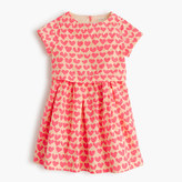 J.Crew Girls' tiered dress in neon hearts