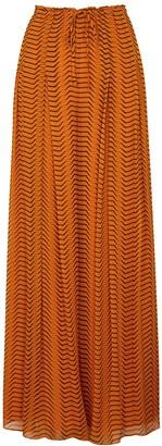 Diane von Furstenberg Adair tiger-print silk-chiffon trousers