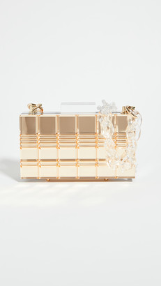 L'Afshar Grace Clutch with Clear Short Chain