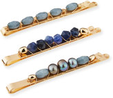 Berry Jewelry Beaded Bobby Pin Set, Blue