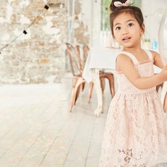 River Island Mini girls pink cami lace flower girl dress