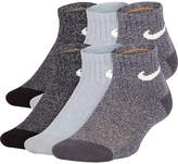 Nike Performance Cushioned Quarter 6 Pack Sock - Boys