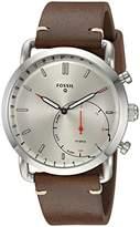 Fossil Hybrid Smartwatch - Q Commuter Dark Brown Leather FTW1150
