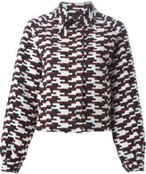 Jil Sander Navy geometric pattern jacket