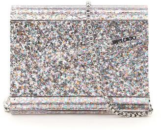 Jimmy Choo Multicolor Glitter Acrylic Candy Clutch