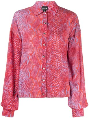 Just Cavalli Snakeskin-Print Shirt