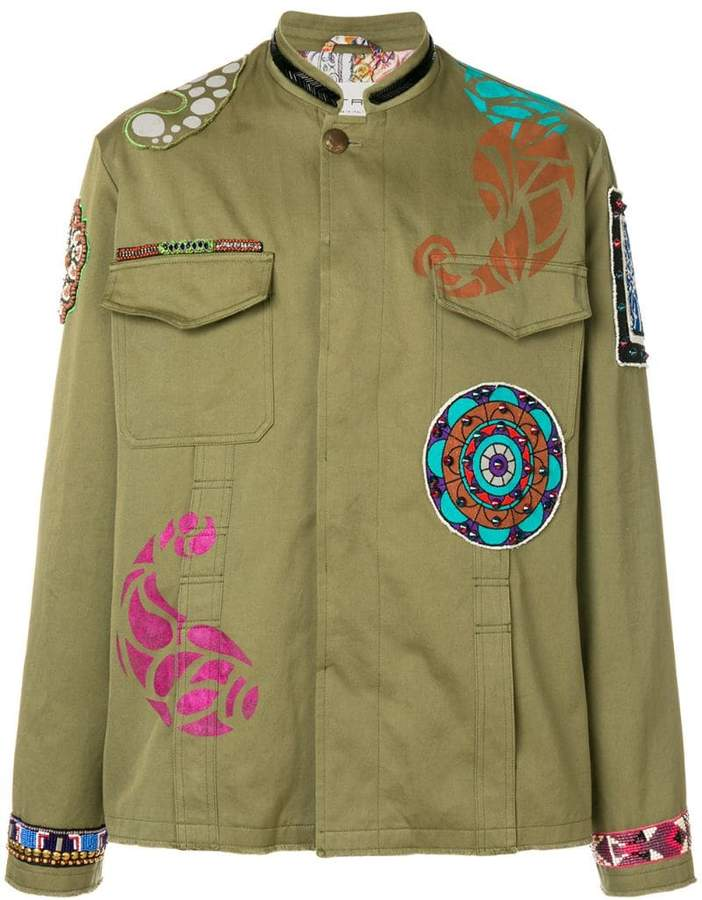 Etro embroidered insert safari jacket