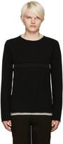 Comme des Garcons Black Cut-Out Sweater