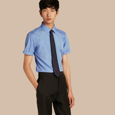 Burberry Slim Fit Short-sleeved Cotton Poplin Shirt