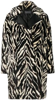 Gianluca Capannolo Zebra Print Coat