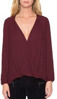 Willow & Clay Women's Embellished Surplice Blouse