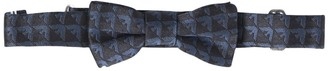 Emporio Armani All Over Logo Brocade Silk Bow-tie