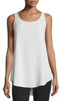 Eileen Fisher Scoop-Neck Georgette Crepe Tank, Petite