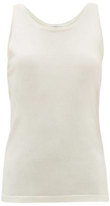 Salvatore Ferragamo Round-neck Silk-blend Top - White