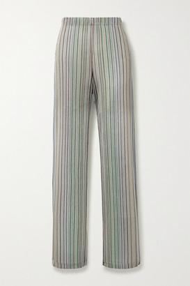 Beaufille Copland Striped Stretch Jacquard-knit Flared Pants - Blue