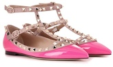 Valentino Rockstud Patent Leather Ballerinas