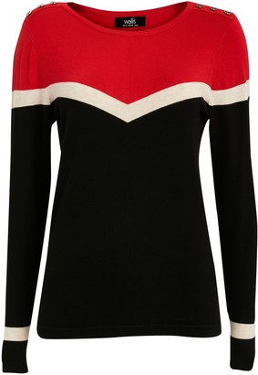 Wallis Red Chevron Jumper