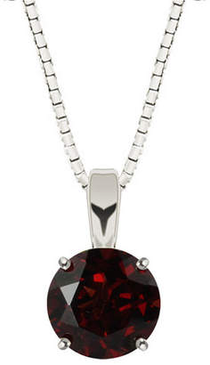 Fine Jewelry Genuine Garnet Sterling Silver Pendant Necklace