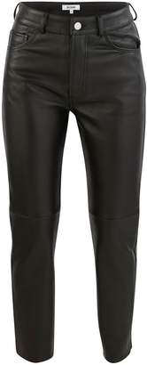 RE/DONE Leather 50s cigarette trousers