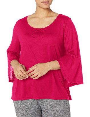 Just My Size Women's Plus Size Pintuck Top