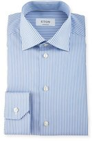 Eton Contemporary-Fit Banker Striped Dress Shirt, Blue