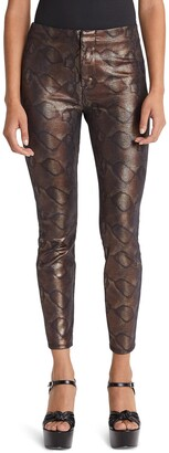 Mother The Looker Snake Texture High Waist Skinny Pants