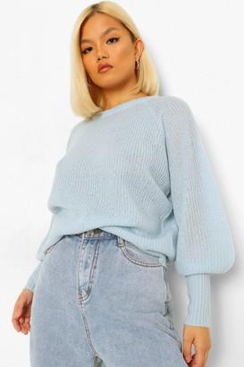 boohoo Petite Balloon Sleeve Knitted Jumper