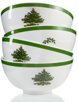 Spode Christmas Tree Melamine Bowl, Set of 4