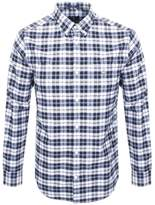 Gant Brushed Oxford Plaid Check Shirt Blue