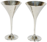 Culinary Concepts Hammered Champagne Goblets, Set of 2